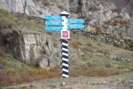 Wegweiser im Altai-Gebirge