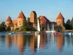 Wasserschloss Trakai in Litauen
