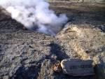 Austretender Dampf auf Island