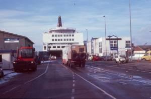 Der Fährhafen in Hanstholm (DK)