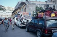 Genua-Wir warten auf die Lkw-Fähre