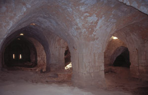 In den riesigen Katakomben