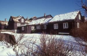 Typische Faröerer Holzhäuser