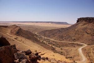 Blick vom Timazac Pass