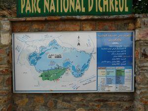 Übersichtplan am Eingang des Nationalparks