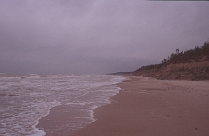 Strand bei den Ziemelu-Forti