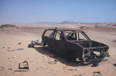 Überbleibsel der Rallye Dakar von 1991 oder 1992