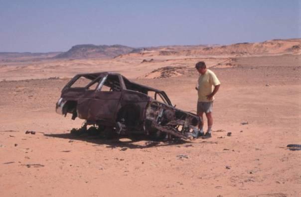 Ein Überbleibsel der Rallye Dakar