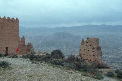 Die Reste einer maurischen Festung hoch über Tabernas