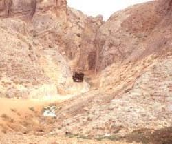 Auf der Suche nach einem ruhigen Stellplatz in der Umgebung von Maaloula