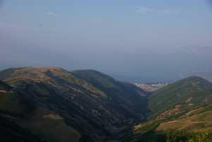 In den Bergen oberhalb des Ohrid...