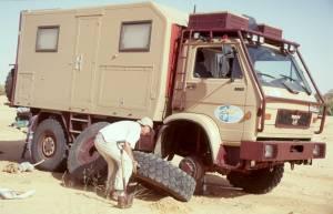Auch eine Reifenpanne bei 42°C sollte kein größeres Problem darstellen