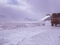 Auffahrt zum Gletscher