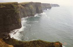Ziemlich steil, diese Cliffs of Moher