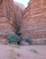 Einstieg in den Uhrazali-Canyon
