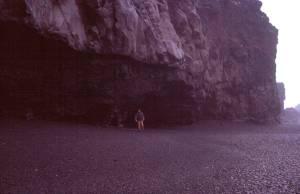 An der Lavaküste von Solheimajökull