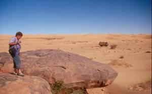 Auf der Suche nach Felsbildern...