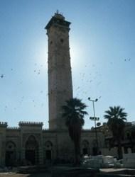 Das Minarett der Hauptmoschee