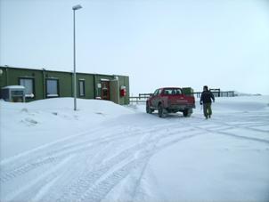 Im Baulager an der Poststelle