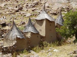 Typische Bauweise der Dogonhäuser...