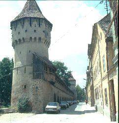 Die mittelalterliche Stadtmauer in Hermannstadt (Sibiu)