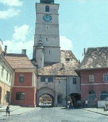 Das obere Stadttor in Sibiu