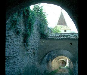 Der alte Aufstieg zur Kirchenburg