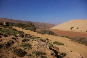 Wer will, kann nach der Abfahrt ins Oued...