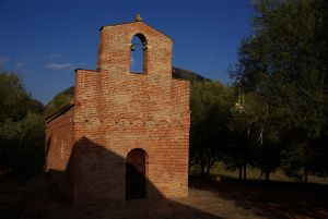 einzige Backsteinkirche Sardiniens.