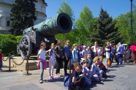 Die 40 Tonnen schwere Zarenkanone von 1586 war nie im Einsatz