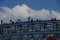 ...wird auf den 1m breiten T-Trägern gern als Platz in der Sonne genutzt