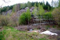 Der Höhlenausgang gut 50 m oberhalb des Einganges.