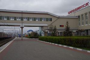 Auf der Transsib-Station von Barabinsk, 5°C...