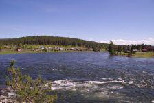 """Der """"Ursprung"""" des Biya-Flusses, ein Quellfluss des Ob..."""