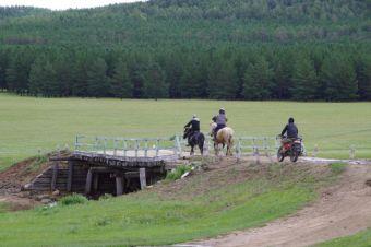 Trainingslauf für ein Naadam-Fest findet auch hier statt