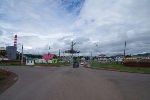 Die zentrale Verkehrsampelanlage in Bulgan...
