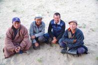 Besuchskomitee an unserem Campground an den Dünen