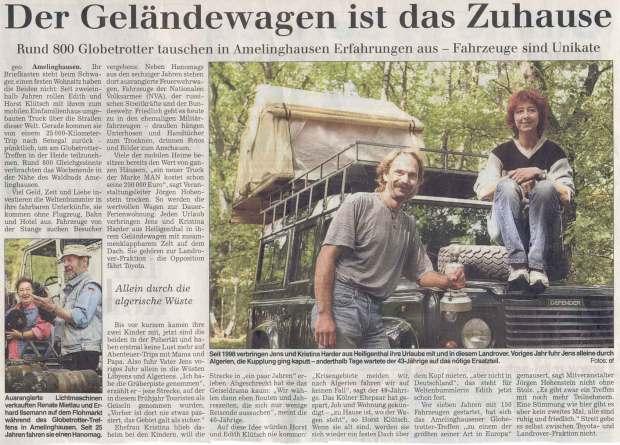Landeszeitung Lueneburg 2003