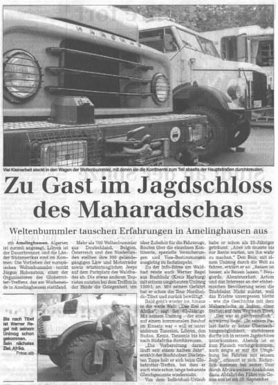 Landeszeitung Lueneburg 2001