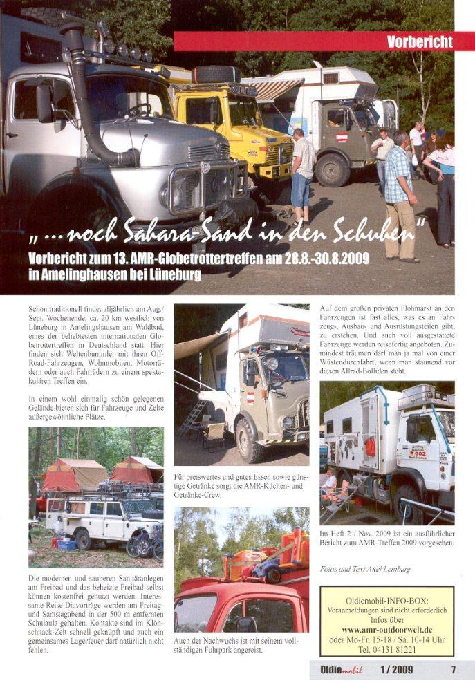 Treffen-Vorschau von der Zeitschrift Oldiemobil