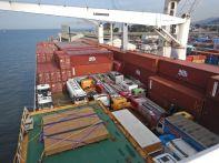 Gelöscht werden diverse Container...