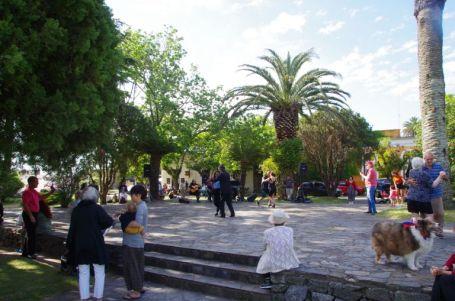 Tango-Tanztee auf der Plaza Mayor.