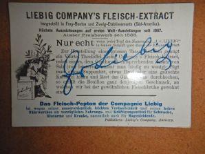 Rezept zur Fleischbrühe made by Justus von Liebig aus Gießen (1803 - 1873)