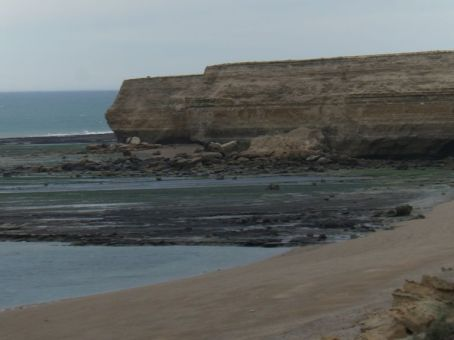 Die Steilküste bei Puerto San Julian...