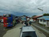Über die chilenische Grenzstation Monte Aymond...