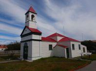 Die Kirche der Mission Salesiana von 1899, 14 Kilometer vor Rio Grande