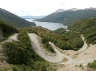 Blick vom Paso Garibaldi auf den Lago Escondida