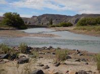 Der Beginn eines äußerst schönen Abschnitts des Rio Chubut-Tales…
