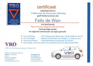 Certificaat Rijbewijs