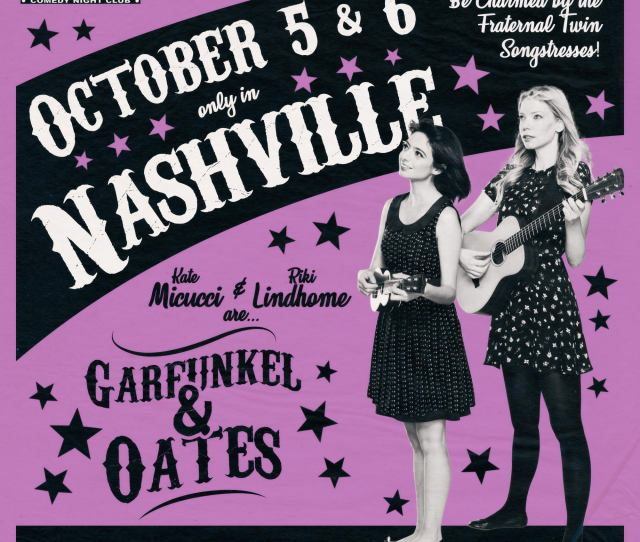 We Are Coming Uke And Guitar In Hand For Two Special Nights Of A Garfunkel And Oates Extravaganza Click On The Image Below For Tickets And Let Us Serenade